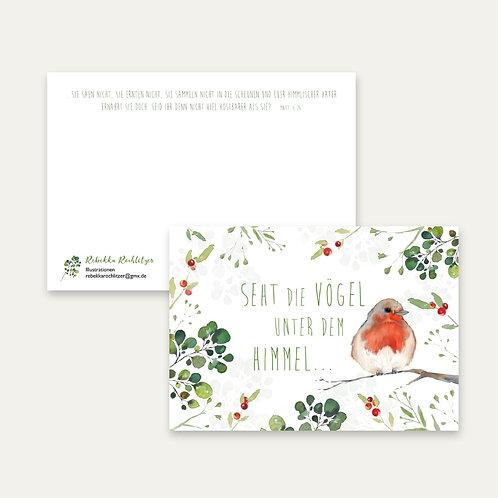 """""""Seht die Vögel""""- Postkarte A6"""