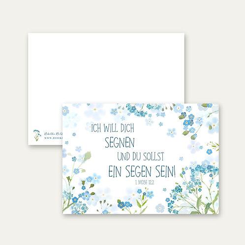"""""""Ich will dich segnen""""- Postkarte A6"""