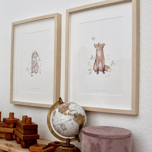 "Kinderzimmer-Print A4 ""little forest friends"""