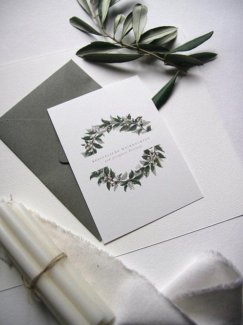 """""""Weiße Weihnacht!"""" - Karte A6"""