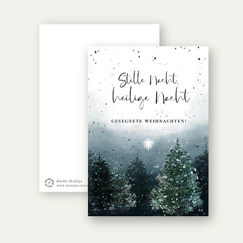 """Stille Nacht""- Postkarte A6"