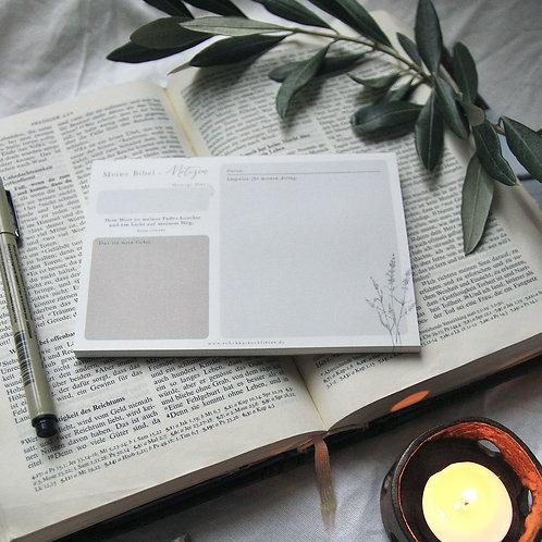 """Bibelnotizen - """"Licht auf meinem Weg"""""""