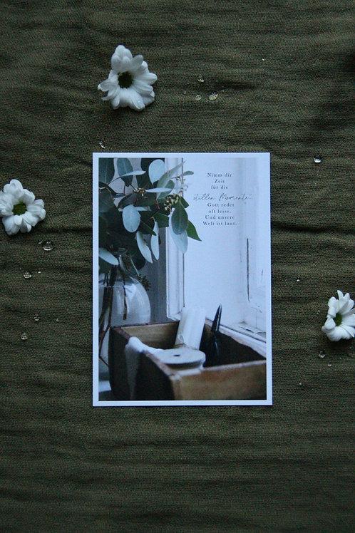 """Stille Momente"" A6 Karte"