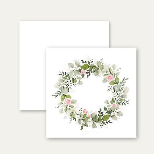 Floraler-Kranz - kleiner Print