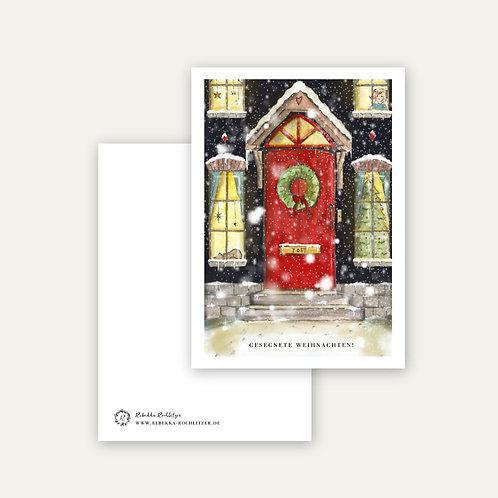 """""""gesegnete Weihnachten""""- Postkarte A6"""