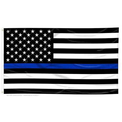 BLUE LINE AMERICAN FLAG