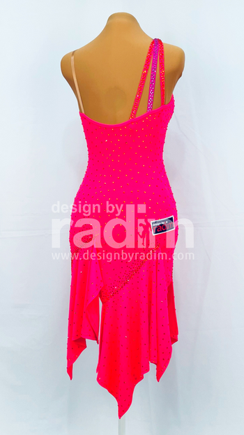 Size 0-4 Scarlet Crepe with Hyacinth stones