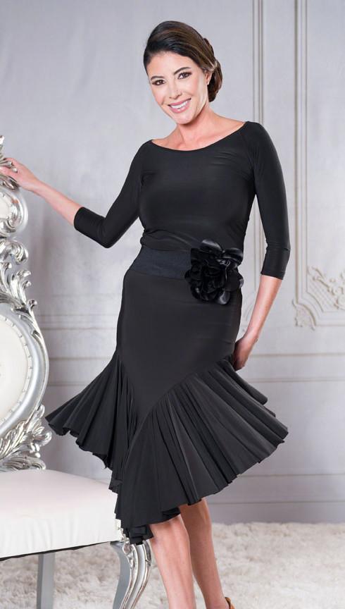 Asymmetric Full Flounced Skirt