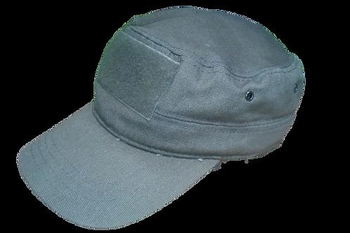Vojenská kšiltovka s velcro panelem - barva khaki