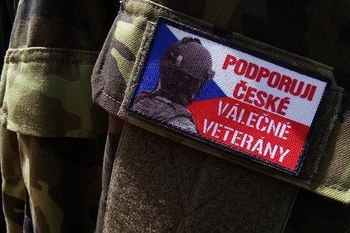 Patch Podporuji české válečné veterány - vlajka ČR