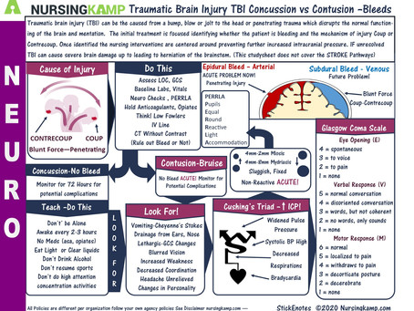 Concussion VS Contusion Bleed or Not?