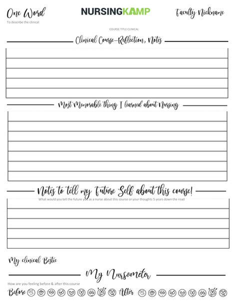 NKP-017 Clinical Refelction Notes Nursin