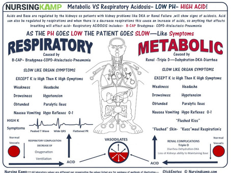 Metabolic VS Respiratory Acidosis
