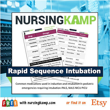 PEDS Reference Badge Set Nursing KAMP nu