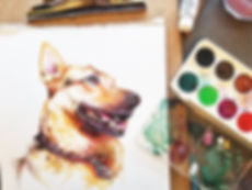 Look at this pretty girl! Painting more