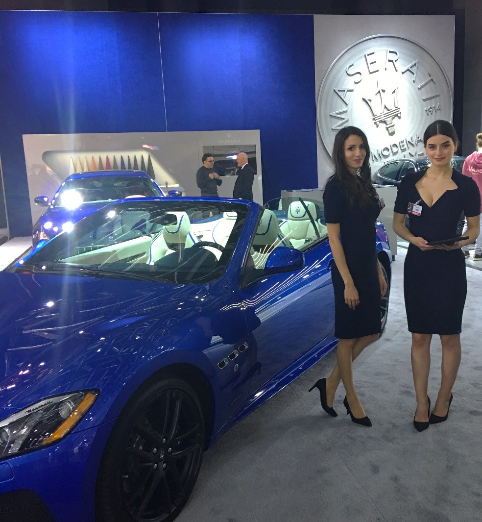 maserati auto show models, attract agency, Montreal modeling agency, auto show talent and staff