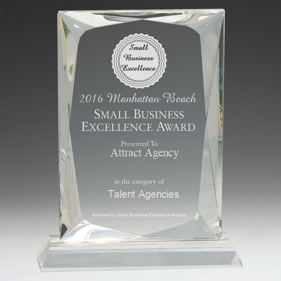 best talent agency award, small business excellence award, nationwide talent agency