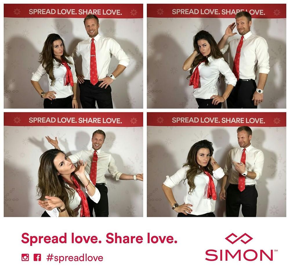 simon malls spread love, attract agency brand ambassadors