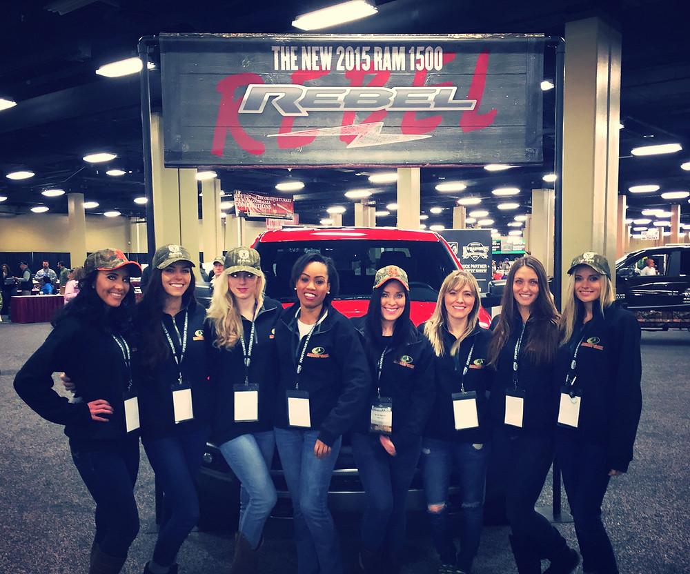 nwtf show, ram trucks, event staff, nashville models