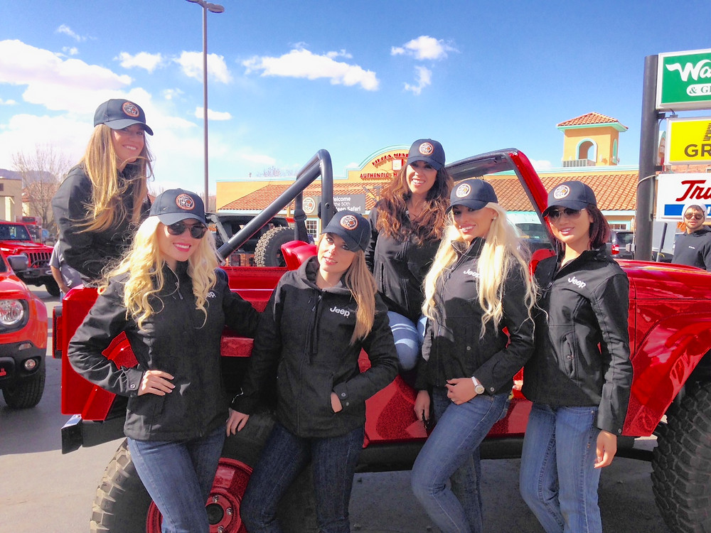 jeep promotional models, easter jeep safari, moab, utah