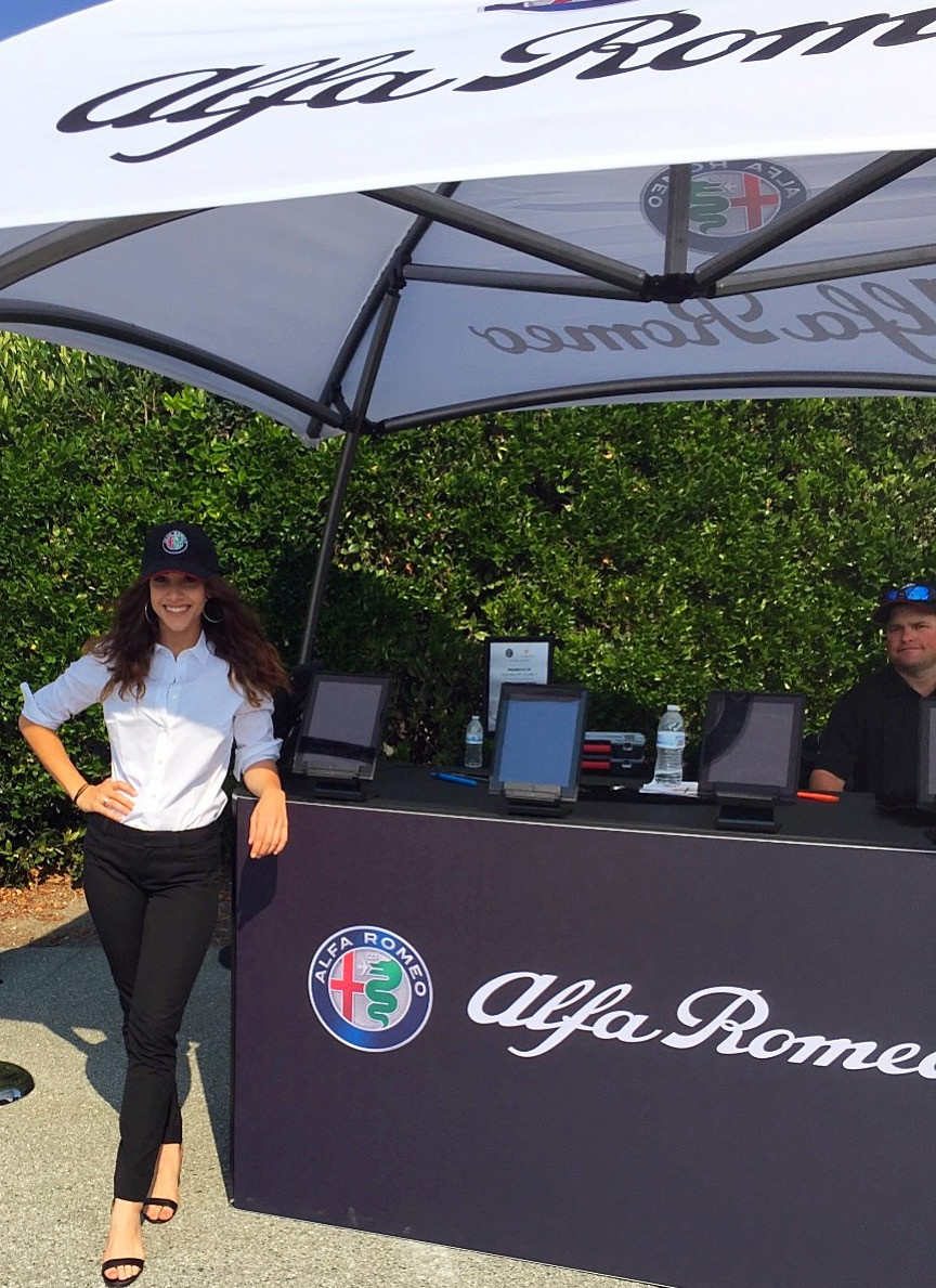 monterey car week models, pebble beach modeling agency, alfa romeo product specialists, auto show talent agency