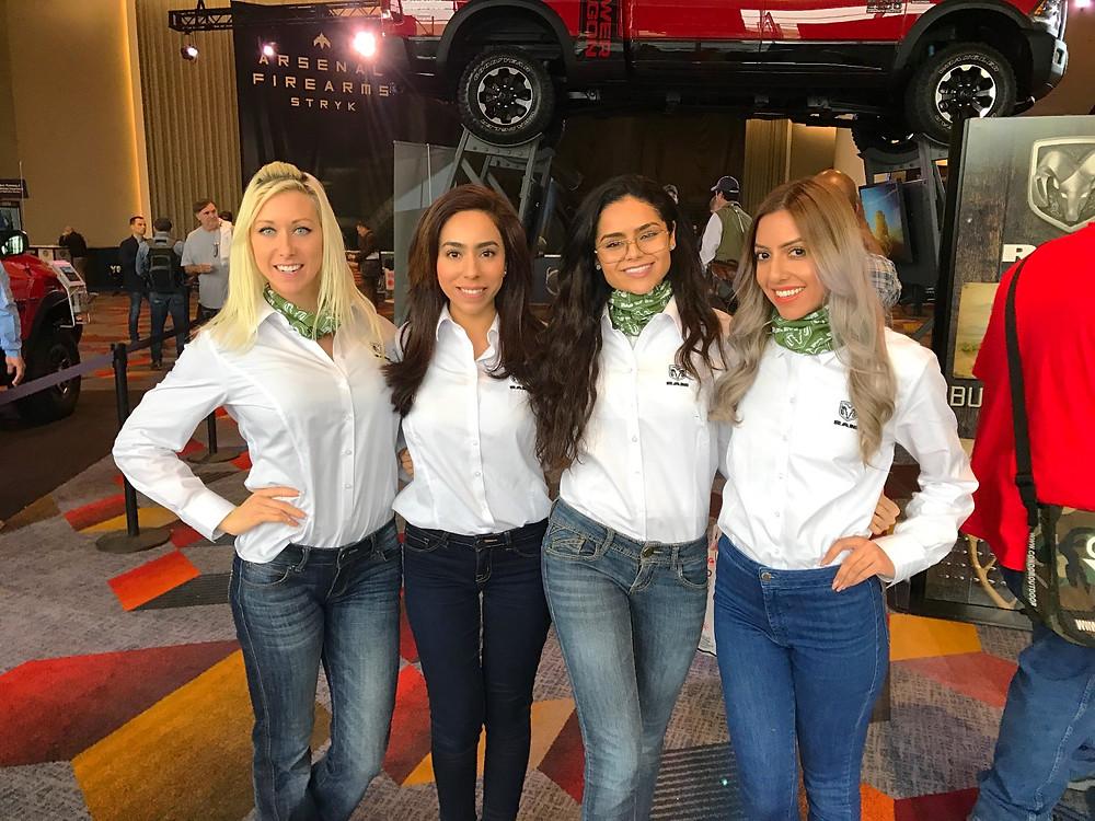 Las Vegas brand ambassadors, Las Vegas modeling agency, las Vegas shot show, attract agency
