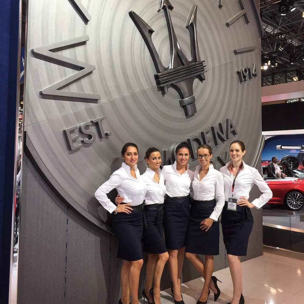 New York auto show, maserati North America, maserati usa, attract agency, nationwide modeling agency