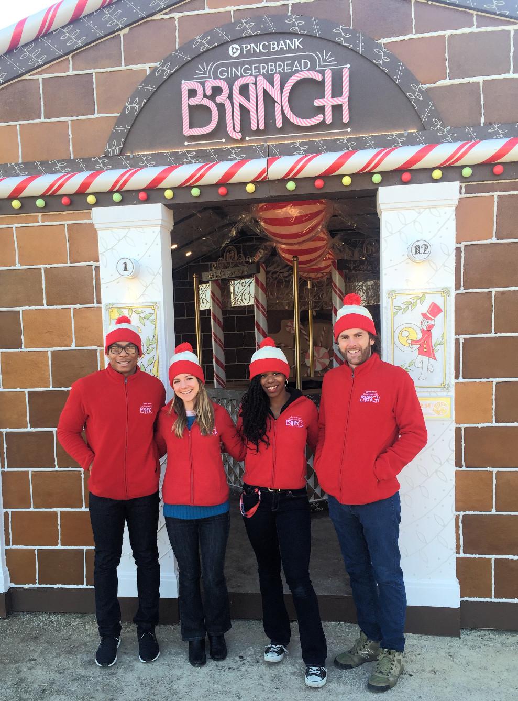 pnc gingerbread branch, philadelphia brand ambassadors, attract agency