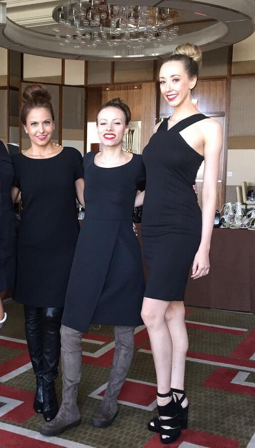 las vegas shoe presentation runway models