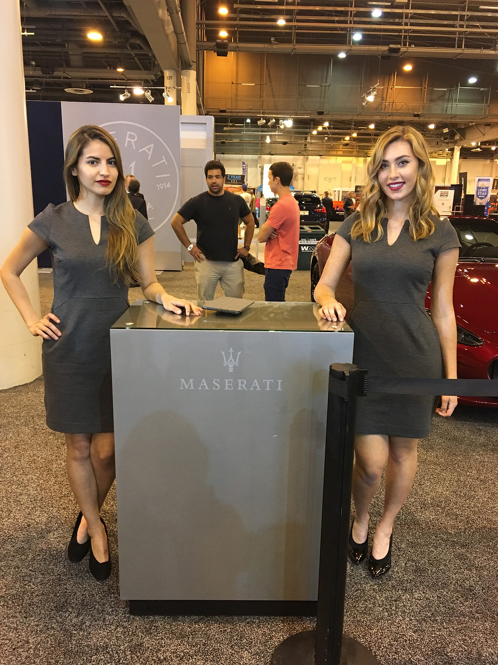 maserati model hostesses, houston auto show, attract agency, nationwide event models
