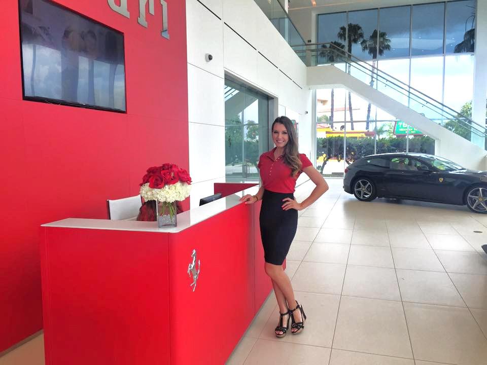 ferrari south bay model hostess