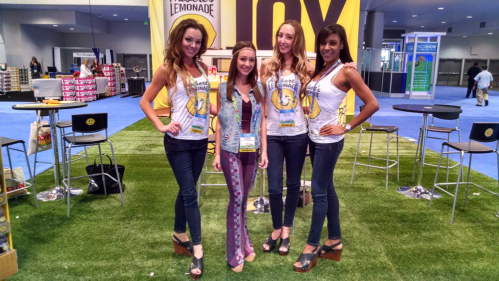 nacs show models, attract agency, trade show staff
