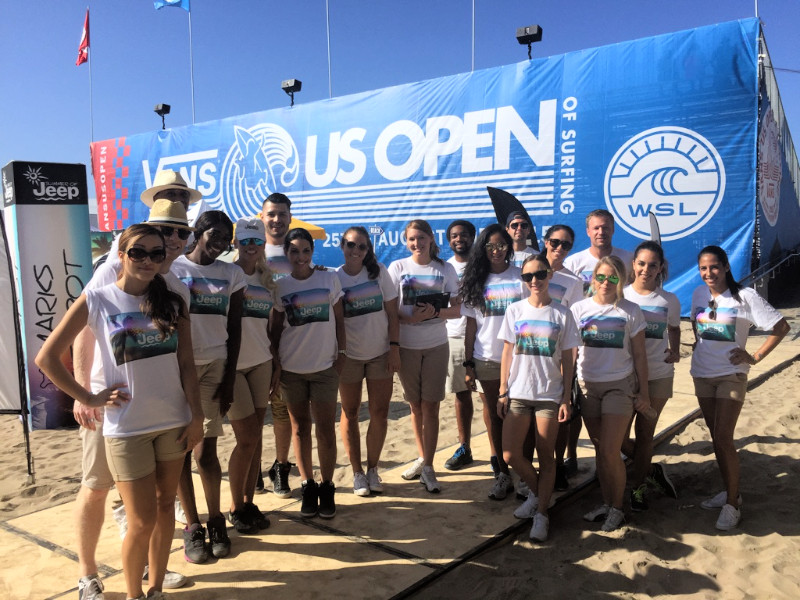 us open of surfing event staff