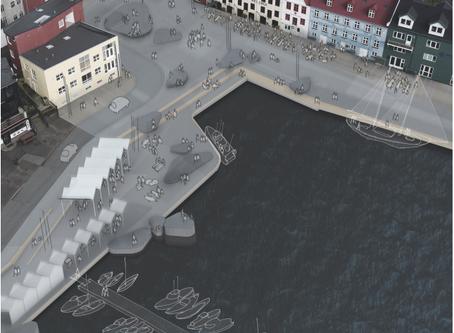 SNA i konkurrence om plan for torv ved havnen i Tórshavn