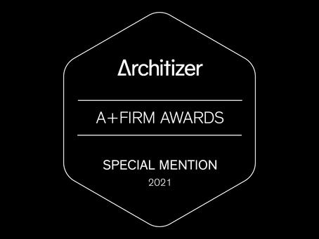 """SNA hædret med """"Special Mention"""" i to kategorier hos Architizer"""