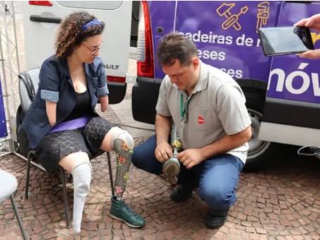 Projeto oferece reparo de próteses e cadeiras de rodas em São Paulo