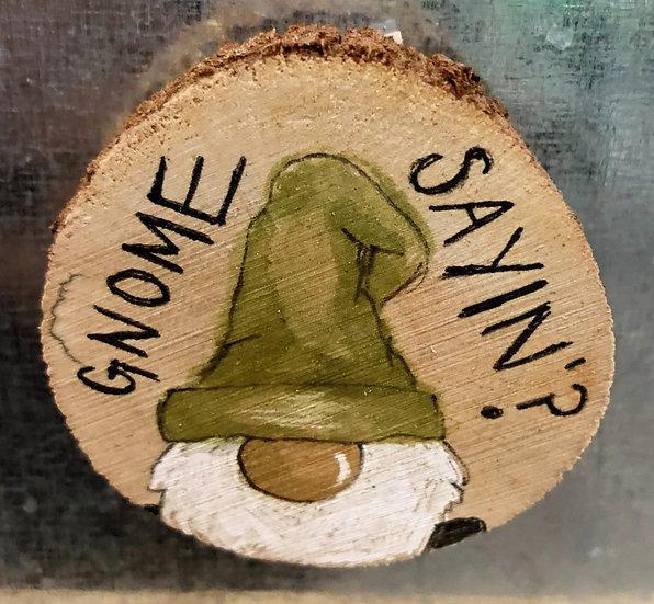 Gnome Wood Magnet