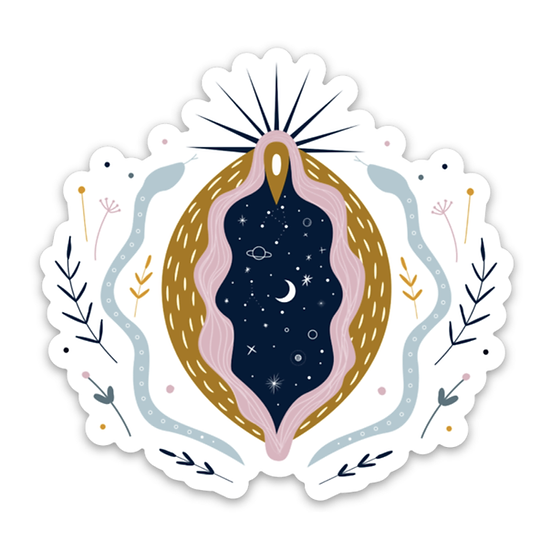 Cosmic Vagina Sticker