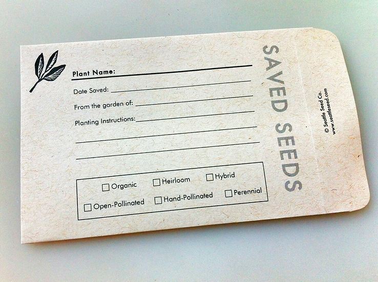 Seattle Seed Co. Saved Seed Packets