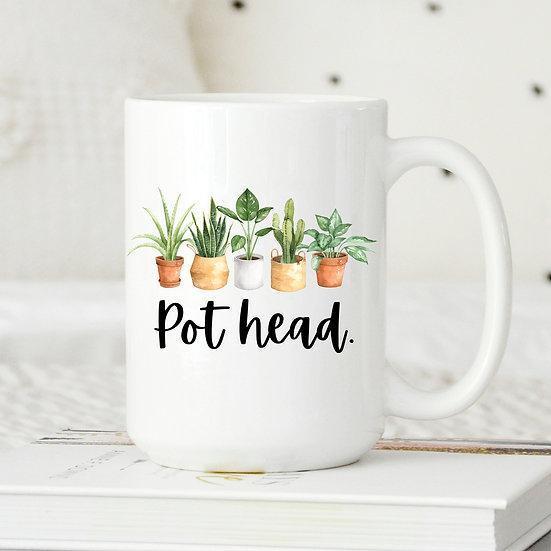 Pot Head Mug 15 oz.