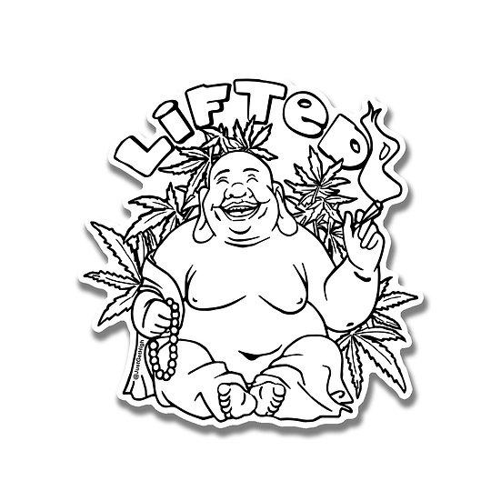 Lifted Buddha Sticker
