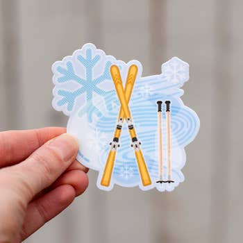 Winter Ski Sticker