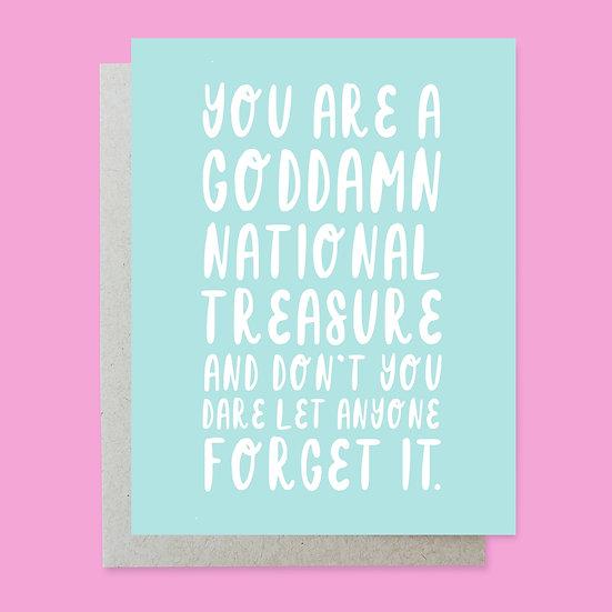 National Treasure Greeting Card