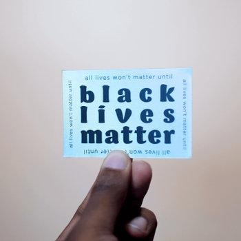 Black Lives Matter Sticker Holographic