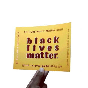 Black Lives Matter Red Foil Card