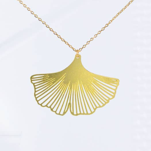Ginkgo Leaf Necklace - A Tea Leaf Jewelry