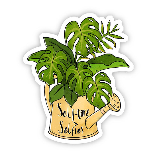 Self Care Plant Sticker