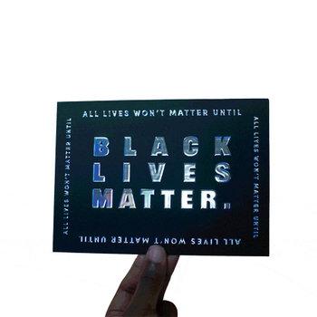 Black Lives Matter Holographic Card