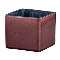 Burgundy Square Pot