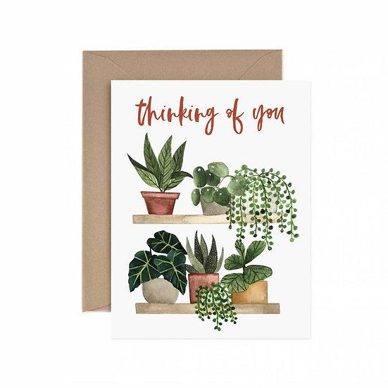 Thinking of You Plant Shelf Greeting Card